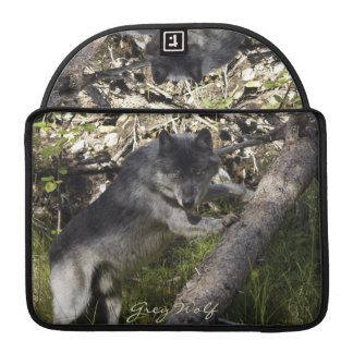 Alpha Grey Wolf & Forest Wildlife MacBook Sleeve