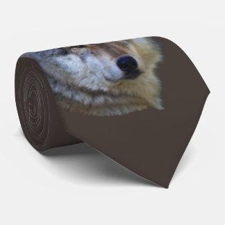 Alpha Grey Wolf Wildlife Collection Tie