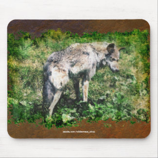 Alpha Grey Wolf Wildlife Conservation Mousepad