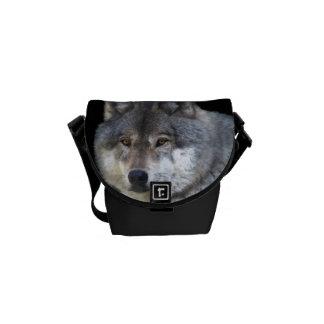 Alpha Grey Wolf Wildlife-lover's Messenger Bag