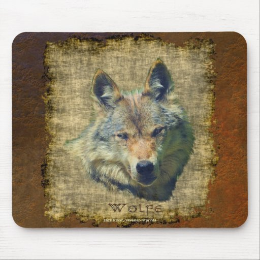 Alpha Grey Wolf Wildlife-Supporter Collection Mousepads