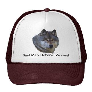 Alpha Grey Wolf Wildlife Supporter Hats