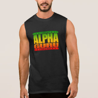 ALPHA GURU - I Lead With Powerful Mastery, Rasta Sleeveless Shirt