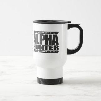 ALPHA HUNTER - I Love Persistence Hunting, Black Stainless Steel Travel Mug