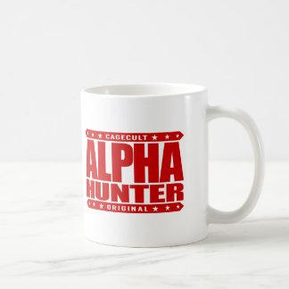 ALPHA HUNTER - I Love Persistence Hunting, Red Basic White Mug