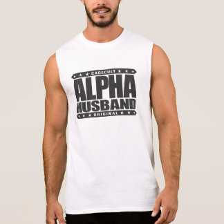 ALPHA HUSBAND - Love My Man Cave and Wife, Black Sleeveless T-shirt