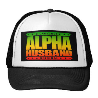 ALPHA HUSBAND - Love My Man Cave and Wife, Rasta Trucker Hat
