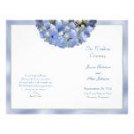 Alpha Hydrangea Folded Wedding Program Template Flyer Design