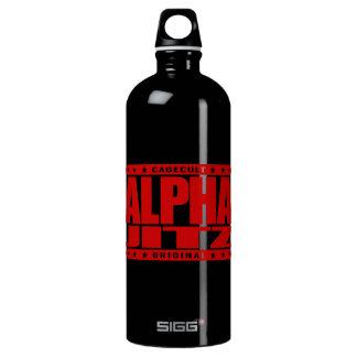 ALPHA JITZ - I Love Brazilian Jiu-Jitsu, Red Aluminum Water Bottle