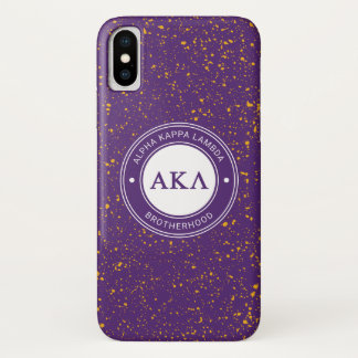 Alpha Kappa Lambda   Badge iPhone X Case