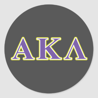 Alpha Kappa Lambda Black Letters Classic Round Sticker