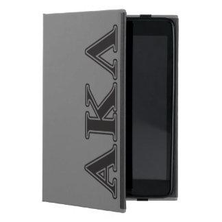 Alpha Kappa Lambda Black Letters iPad Mini Cover