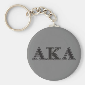 Alpha Kappa Lambda Black Letters Keychain