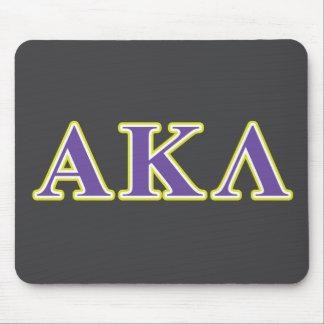 Alpha Kappa Lambda Black Letters Mouse Pad