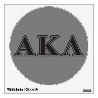 Alpha Kappa Lambda Black Letters Wall Sticker