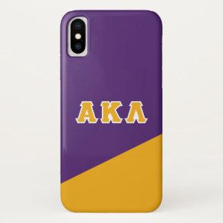 Alpha Kappa Lambda   Greek Letters iPhone X Case