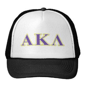 Alpha Kappa Lambda Purple and Yellow Letters Trucker Hat
