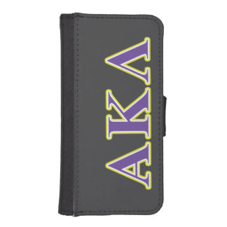 Alpha Kappa Lambda Purple and Yellow Letters iPhone SE/5/5s Wallet Case
