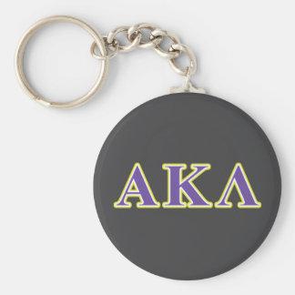 Alpha Kappa Lambda Purple and Yellow Letters Key Chain