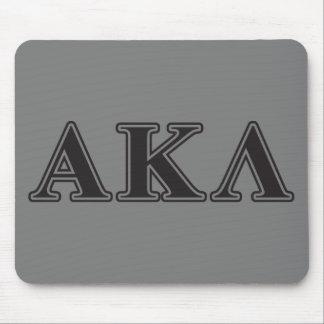Alpha Kappa Lambda Purple and Yellow Letters Mouse Pad