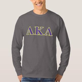 Alpha Kappa Lambda Purple and Yellow Letters T-Shirt