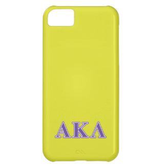 Alpha Kappa Lambda Purple Letters Case For iPhone 5C