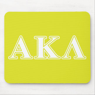 Alpha Kappa Lambda Purple Letters Mouse Pad