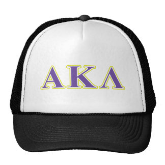 Alpha Kappa Lambda Purple Letters Trucker Hat