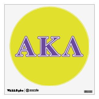 Alpha Kappa Lambda Purple Letters Wall Sticker