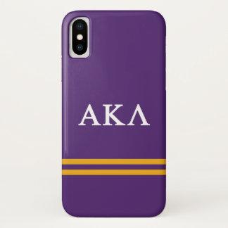 Alpha Kappa Lambda   Sport Stripe iPhone X Case