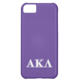 Alpha Kappa Lambda White and Purple Letters iPhone 5C Cover