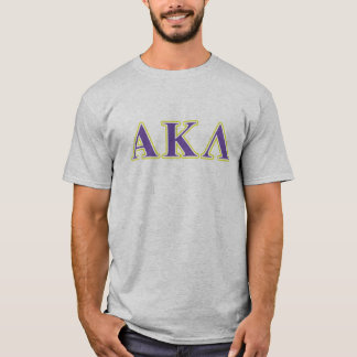 Alpha Kappa Lambda White and Purple Letters T-Shirt