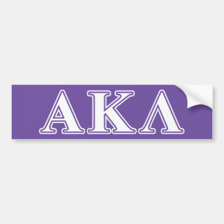 Alpha Kappa Lambda White and Yellow Letters Bumper Sticker