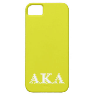Alpha Kappa Lambda White and Yellow Letters iPhone SE/5/5s Case