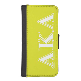 Alpha Kappa Lambda White and Yellow Letters iPhone SE/5/5s Wallet Case