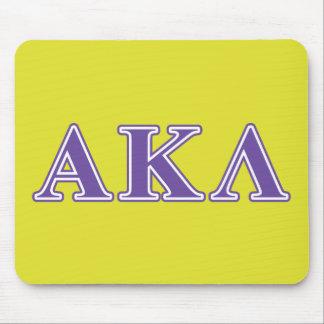 Alpha Kappa Lambda White and Yellow Letters Mouse Pad