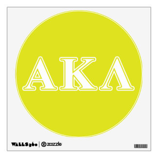 Alpha Kappa Lambda White and Yellow Letters Wall Decal