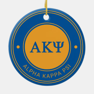 Alpha Kappa Psi | Badge Ceramic Ornament
