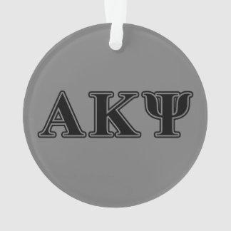 Alpha Kappa Psi Black Letters