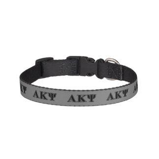 Alpha Kappa Psi Black Letters Dog Collars