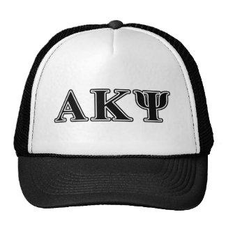 Alpha Kappa Psi Black Letters Hat