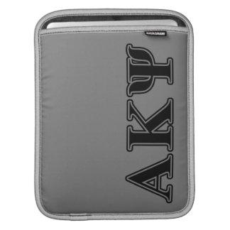 Alpha Kappa Psi Black Letters iPad Sleeves
