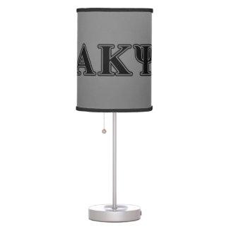 Alpha Kappa Psi Black Letters Desk Lamps