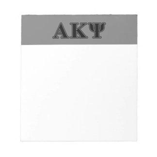 Alpha Kappa Psi Black Letters Memo Pads