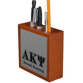 Alpha Kappa Psi Black Letters Pencil Holder
