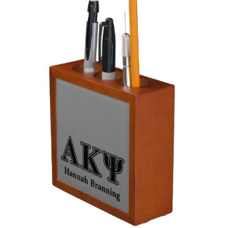 Alpha Kappa Psi Black Letters Pencil/Pen Holder