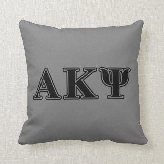 Alpha Kappa Psi Black Letters Pillow