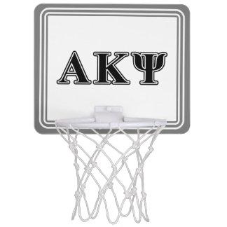 Alpha Kappa Psi Black Letters Mini Basketball Hoops