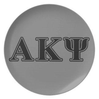 Alpha Kappa Psi Black Letters Plate