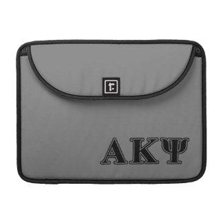 Alpha Kappa Psi Black Letters Sleeves For MacBooks